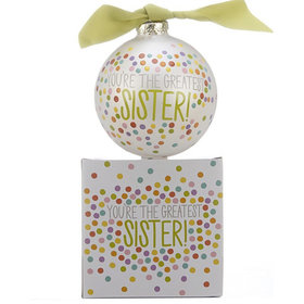You're the Greatest Sister Polka Dots Ornament