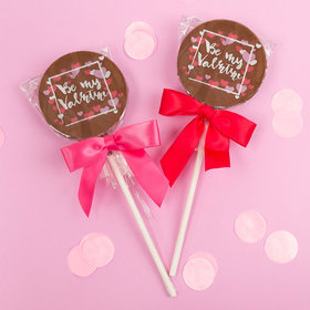 Valentine's Day Gourmet Belgian Milk Chocolate Lollipops (24ct)
