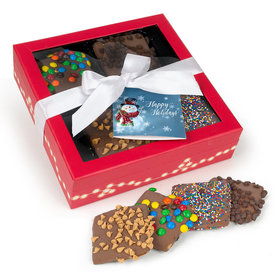 Belgian Chocolate Covered Grahams with Assorted Toppings Gift Box (12 Graham)