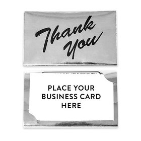 Thank You - Dark Chocolate Silver Business Card Holder