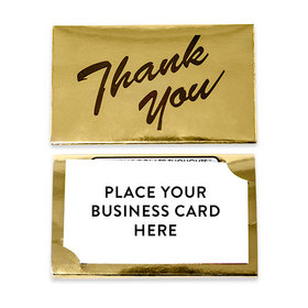 Thank You - Milk Chocolate Gold Business Card Holder