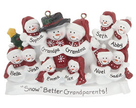 Snow Family of 11 with Tree Ornament