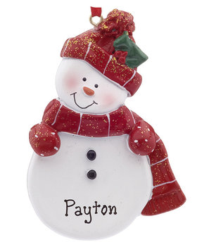 Snowman with Red Scarf and Hat Ornament