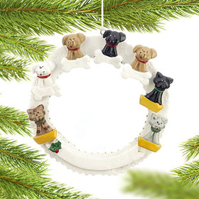 Pet Memorial Wreath (Up to 7 Pets) Ornament