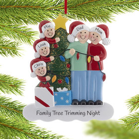 Family of 5 with Lights Ornament