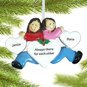 Twins, Sisters, Cousins or Friends Ornament