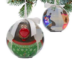 Blinking Nose Bear Ornament