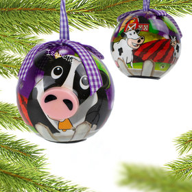 Blinking Nose Cow Ornament