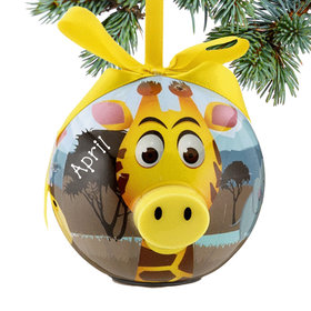 Blinking Nose Giraffe Ornament