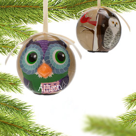 Blinking Nose Owl Ornament
