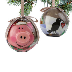 Blinking Nose Pig Ornament