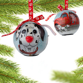 Blinking Nose Dalmatian Ornament