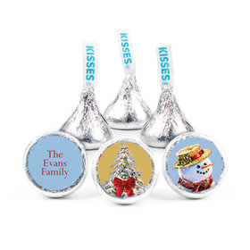 """Personalized Christmas Silent Night Lane 3/4"""" Stickers (108 Stickers)"""