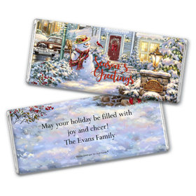 Personalized Christmas Silent Night Lane Chocolate Bar & Wrapper