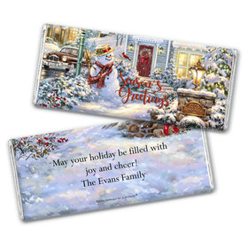 Personalized Christmas Silent Night Lane Chocolate Bar Wrappers Only