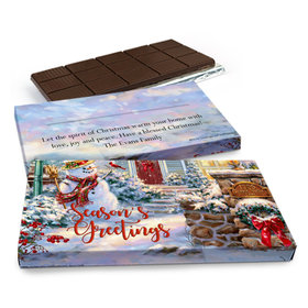 Deluxe Personalized Christmas Silent Night Lane Chocolate Bar in Gift Box (3oz Bar)