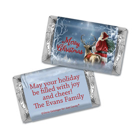 Personalized Christmas Starry Night Santa Mini Wrappers Only