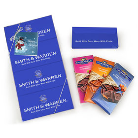 Personalized Happy Holidays Snowman Ghirardelli Gift Pack (4 Ghirardelli Bars)