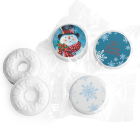 Personalized Christmas Jolly Snowman Life Savers Mints