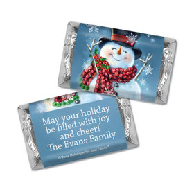 Personalized Christmas Jolly Snowman Hershey's Miniatures