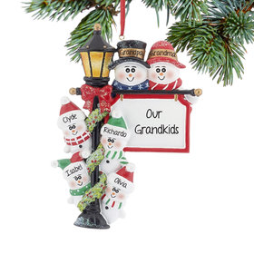 Lamppost Family of 6 Ornament