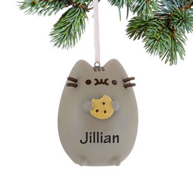 Pusheen Cat with Chocolate Chip Cookie Ornament