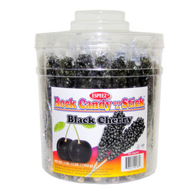 Black Cherry Rock Candy on a Stick (36 Pack)