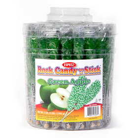 Green Apple Rock Candy on a Stick (36 Pack)