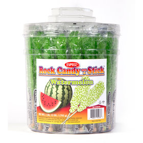 Watermelon Rock Candy on a Stick (36 Pack)