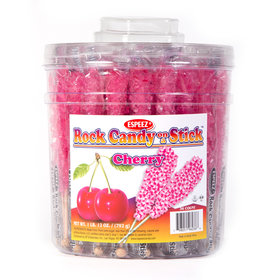 Cherry Rock Candy on a Stick (36 Pack)