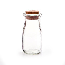 Glass Bottle with Cork Top Pack of 24