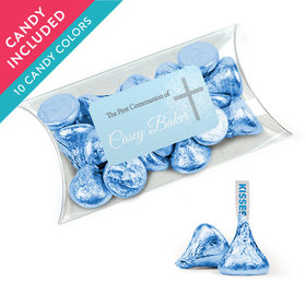 Personalized Boy First Communion Favor Assembled Pillow Box with Hershey's Kisses