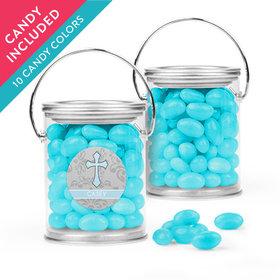 Personalized Boy First Communion Favor Assembled Paint Can with Just Candy Jelly Beans