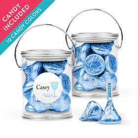 Personalized Boy First Communion Favor Assembled Paint Can with Hershey's Kisses