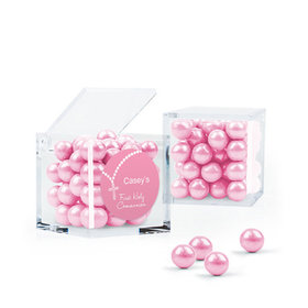 Personalized Girl First Communion Favor Assembled Small Box with Sixlets