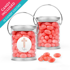 Personalized Girl First Communion Favor Assembled Paint Can with Just Candy Jelly Beans