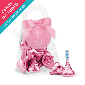 Personalized Girl First Communion Favor Assembled Purse with Hershey's Kisses