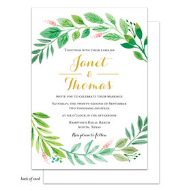 Bonnie Marcus Collection Personalized Foliage of Love Wedding Invitation