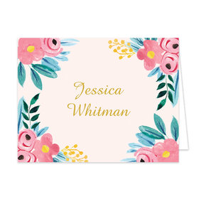 Bonnie Marcus Collection Personalized Floral Whimsy Graduation Thank you
