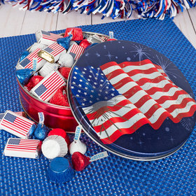 Independence Day Fireworks 1 lb Hershey's Mix Tin