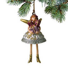 Pixie Angel Holding Presents Ornament