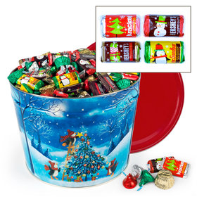 Merry Penguins 14 lb Hershey's Holiday Mix Tin