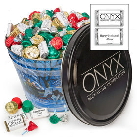 Add Your Logo Through the Woods 10 lb Hershey's Holiday Mix Tin