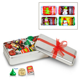 Simply Christmas with Red Ribbon 1.5 lb Hershey's Holiday Mix Tin