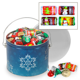 Shimmering Snowflakes 3.5 lb Hershey's Holiday Mix Tin