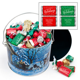 Personalized Through the Woods 3.5 lb Happy Holidays Hershey's Mix Tin