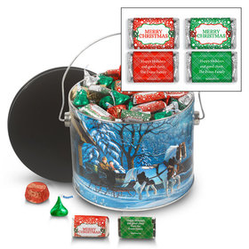 Personalized Through the Woods 3.5 lb Merry Christmas Hershey's Mix Tin