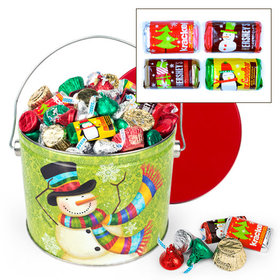 Scarf Snowman 3.5 lb Hershey's Holiday Mix Tin