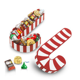 Candy Cane Cut Out 1/2lb Hershey's Holiday Mix Box