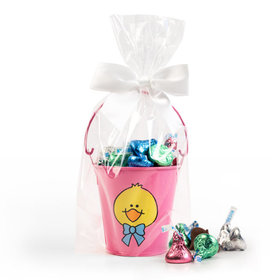 Pink Duck Pail with Spring Mix Hershey's Kisses